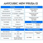 Anycubic New Prusa i3 - Especificaciones